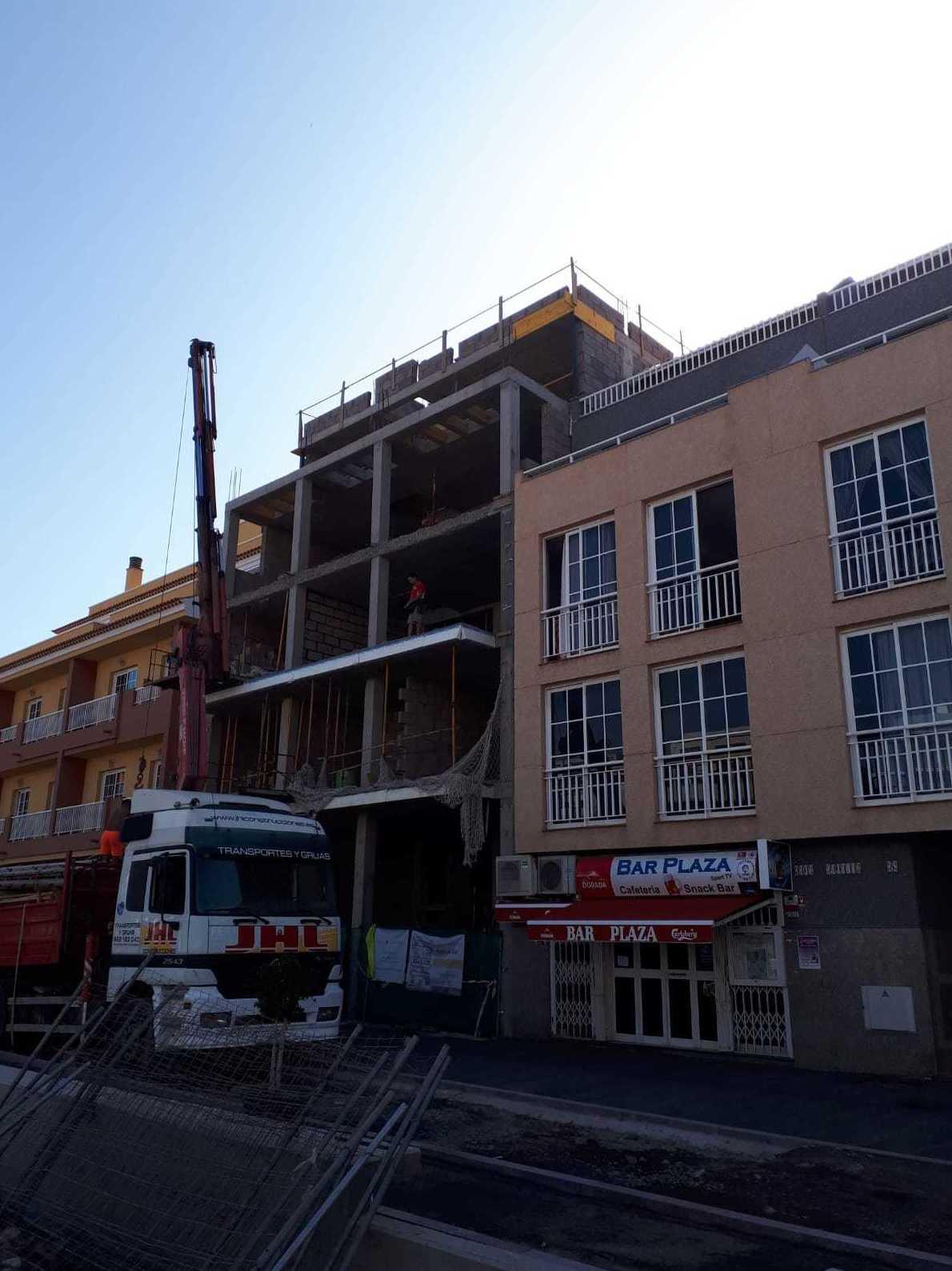 Proceso de construcción Obra Puerto de Santiago JHL Construcciones