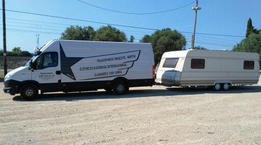 Transporte de caravana .