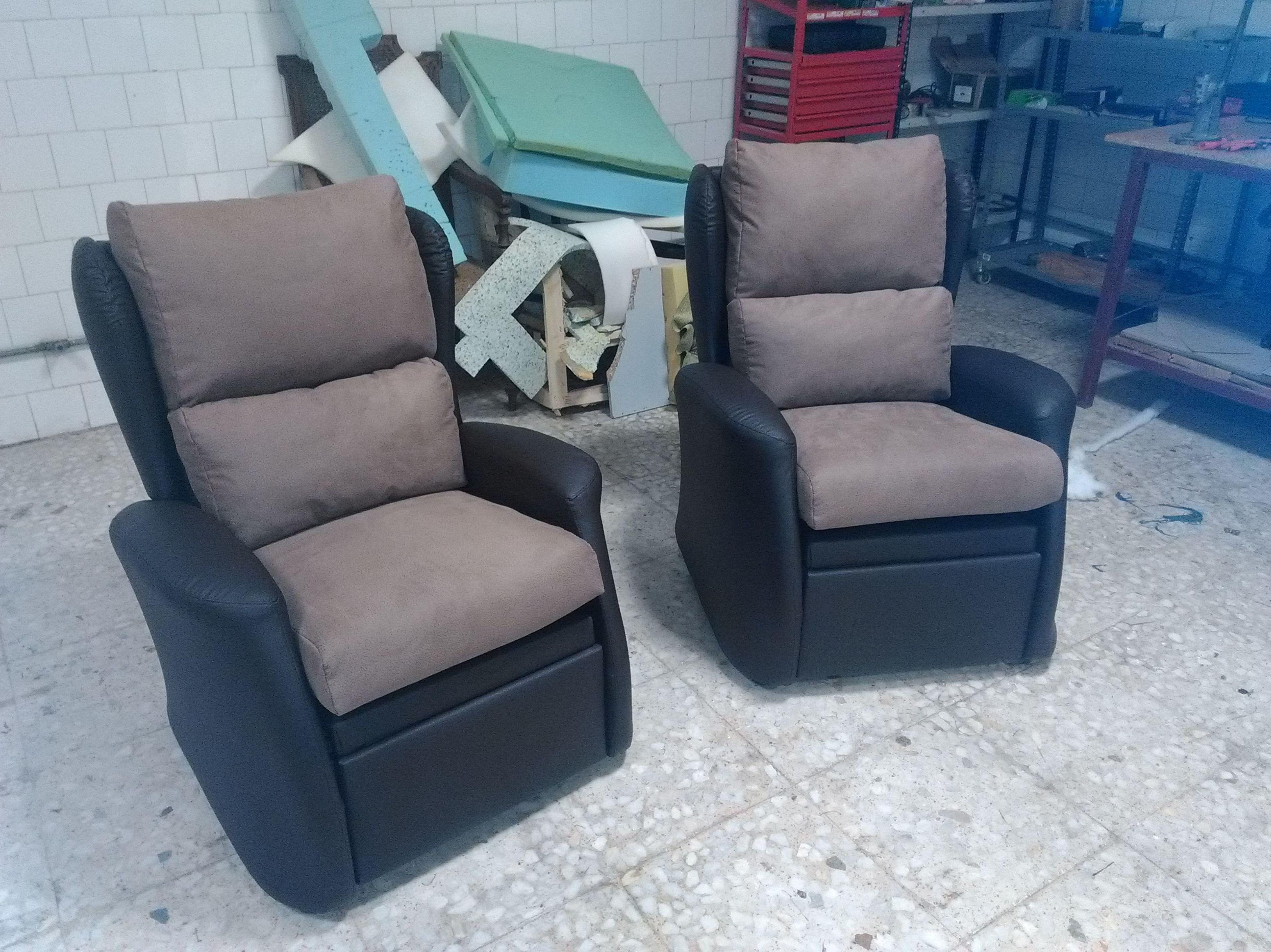 Tapizado de sillones en diferentes materiales
