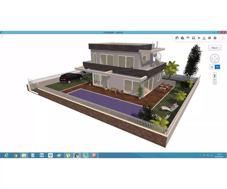 Casas unifamiliares en 3D