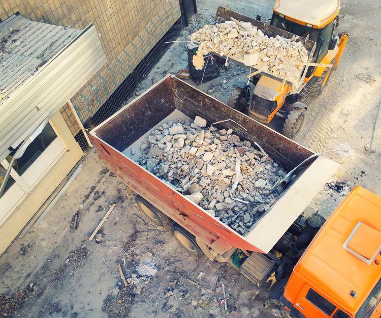Servicio de retirada de escombros