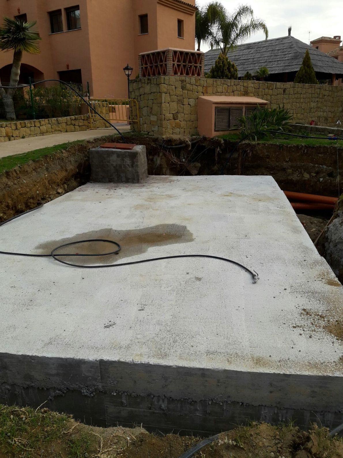 Aljibe de agua en la Costa del Sol