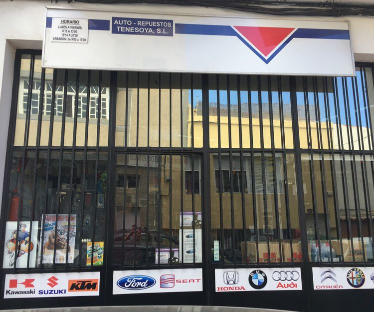 Repuestos parra automóviles en Canarias