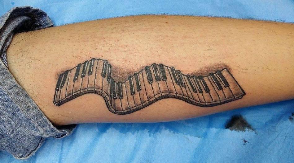 Tattoo Teclado Piano