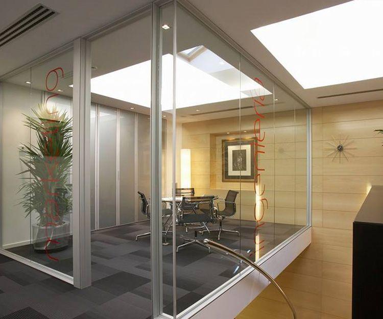 Cristal para divisiones de oficina