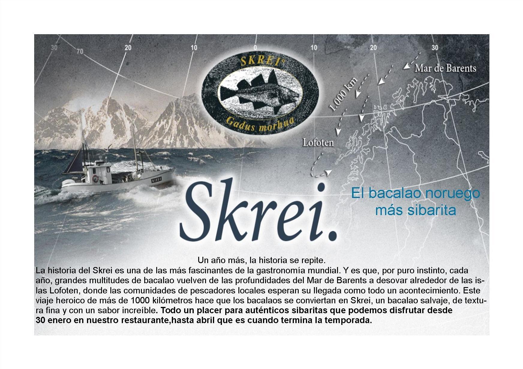 El Bacalao Skrei Noruego esta a punto de llegar!!!!