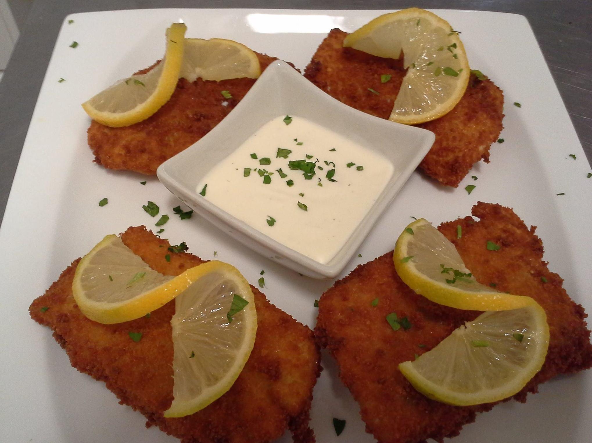 Crujiente de ventresca de bacalao al limón