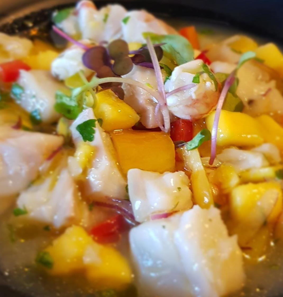 Ceviche de Bacalao y Mango