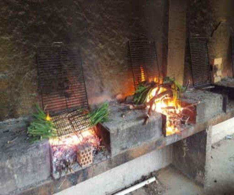 Asados en horno de leña de encina en Sitges