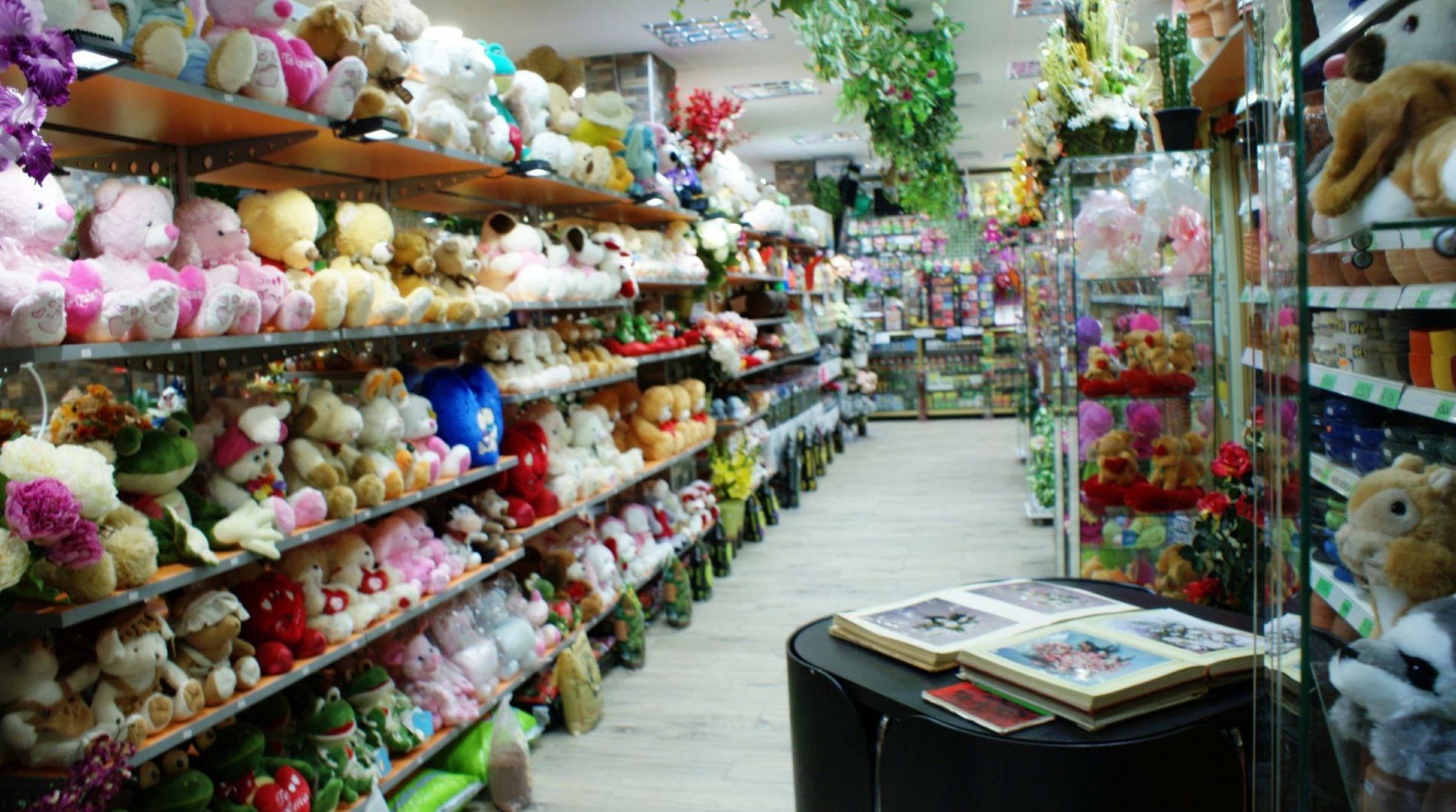 Interior de la floristería