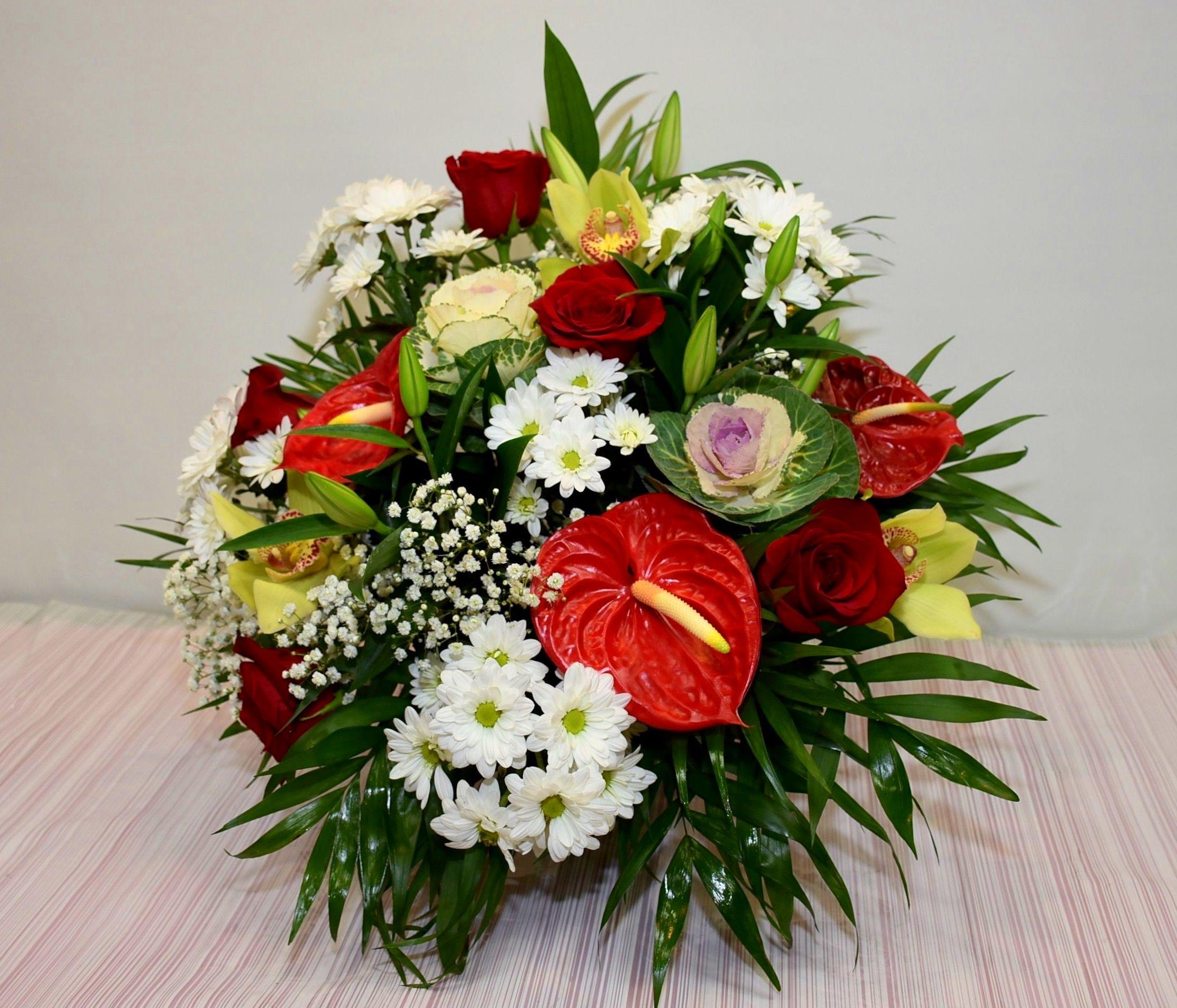Centro de flor, forma abanico:  de Floristería Contreras