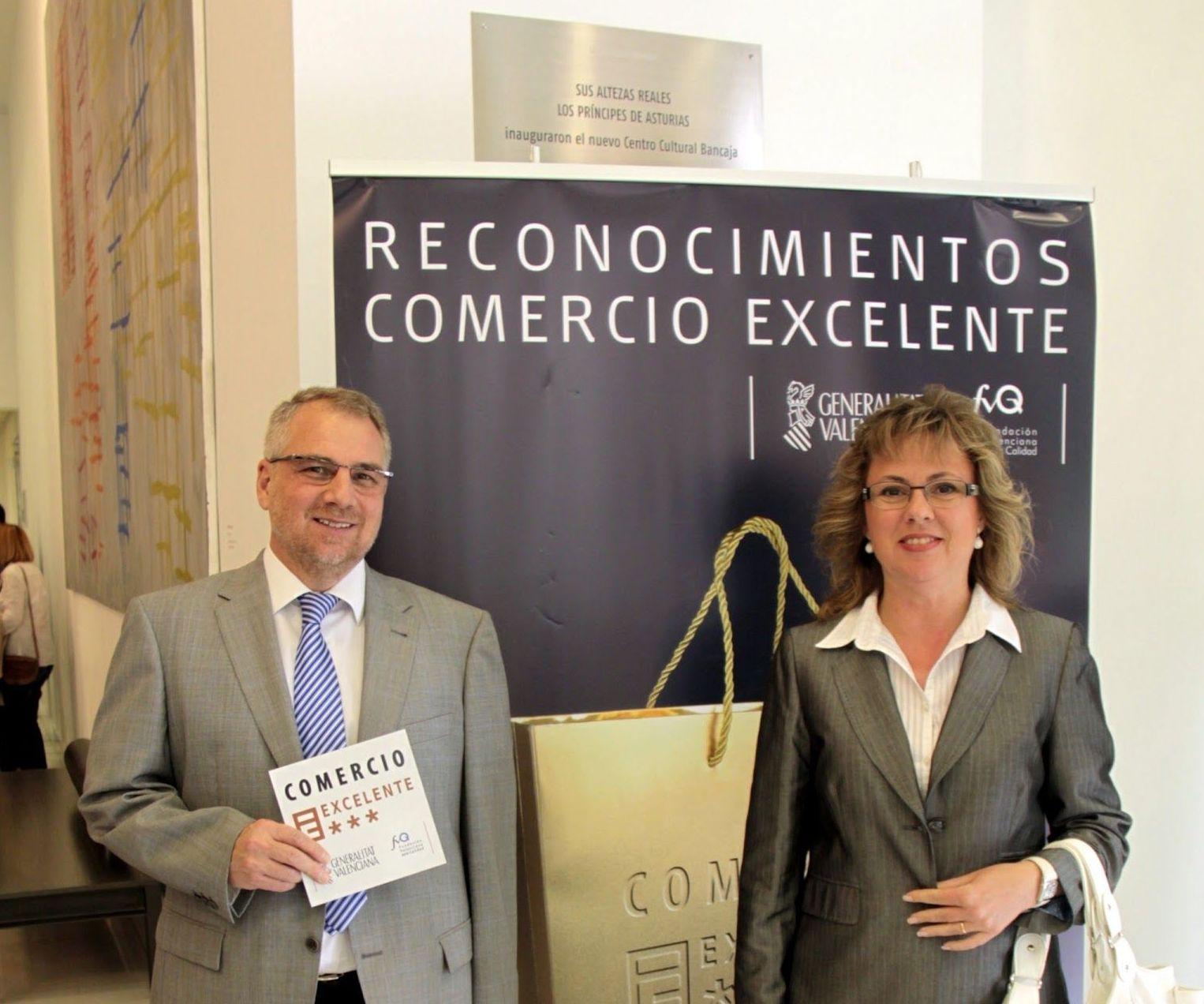 Premio Reconocimiento Comercio Excelente en Valencia