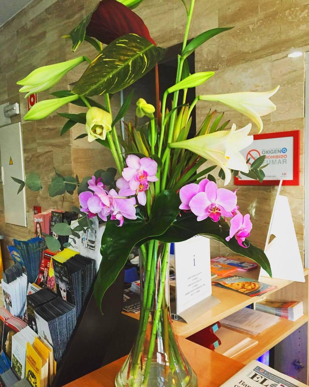 Un espacio de lo más floral en nuestra recepción