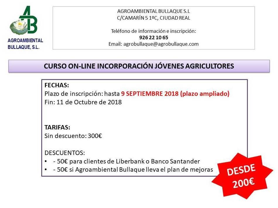 CURSO INCORPORACIÓN JOVEN AGRICULTOR