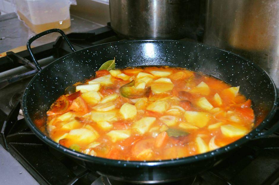 Este marmitako para el menú del día
