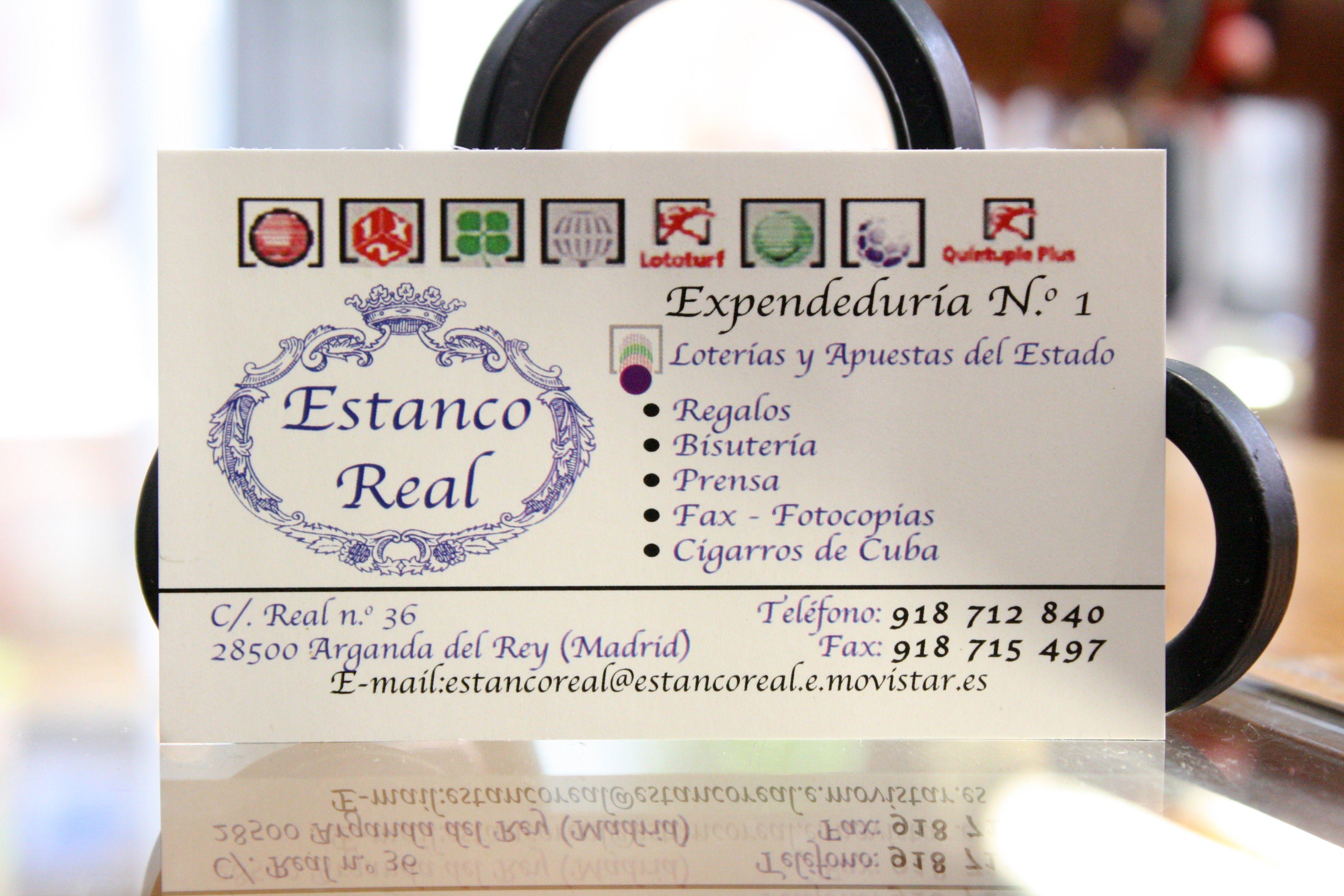 Foto 2 de Estancos en Arganda del Rey | Estanco Real