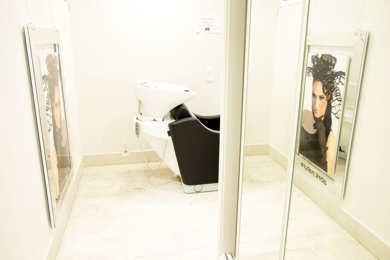 Zona de lavado de cabezas