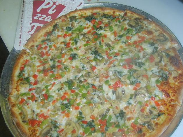 Deliciosa pizza vegetariana