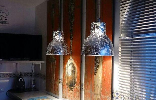 LAMPARAS EN PAN DE PLATA .