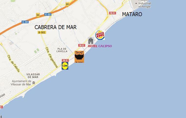 MAPA TIENDA DE CABRERA DE MAR .(800 m2 exposicion)