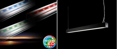 2.8LAMPARA A MEDIDA  DOBLE LUZ RGB.(precio1,20cm led rgb y mando incluido): PRODUCTOS de El Búho | Iluminación en Barcelona