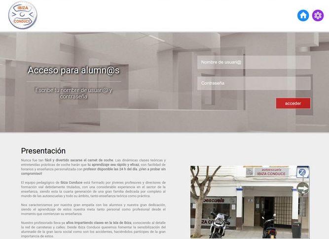 Aula virtual Autoescuela Ibiza Conduce