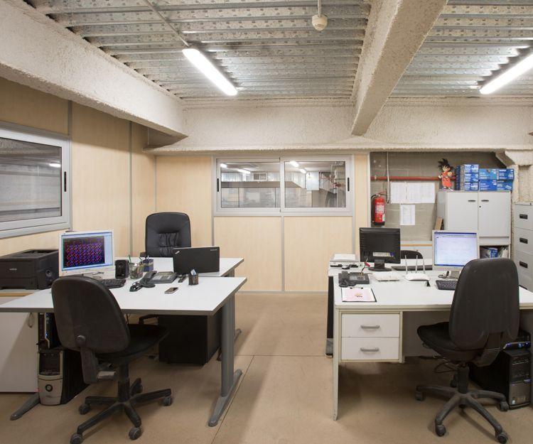 Oficinas de la empresa de troqueles en Barcelona