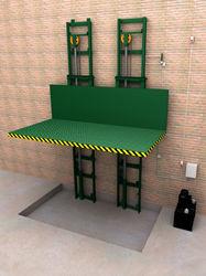 Elevador montacargas doble columna