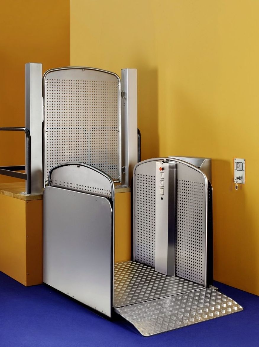 Plataforma vertical S08, Silver: Productos de Mobiliteg Solutions