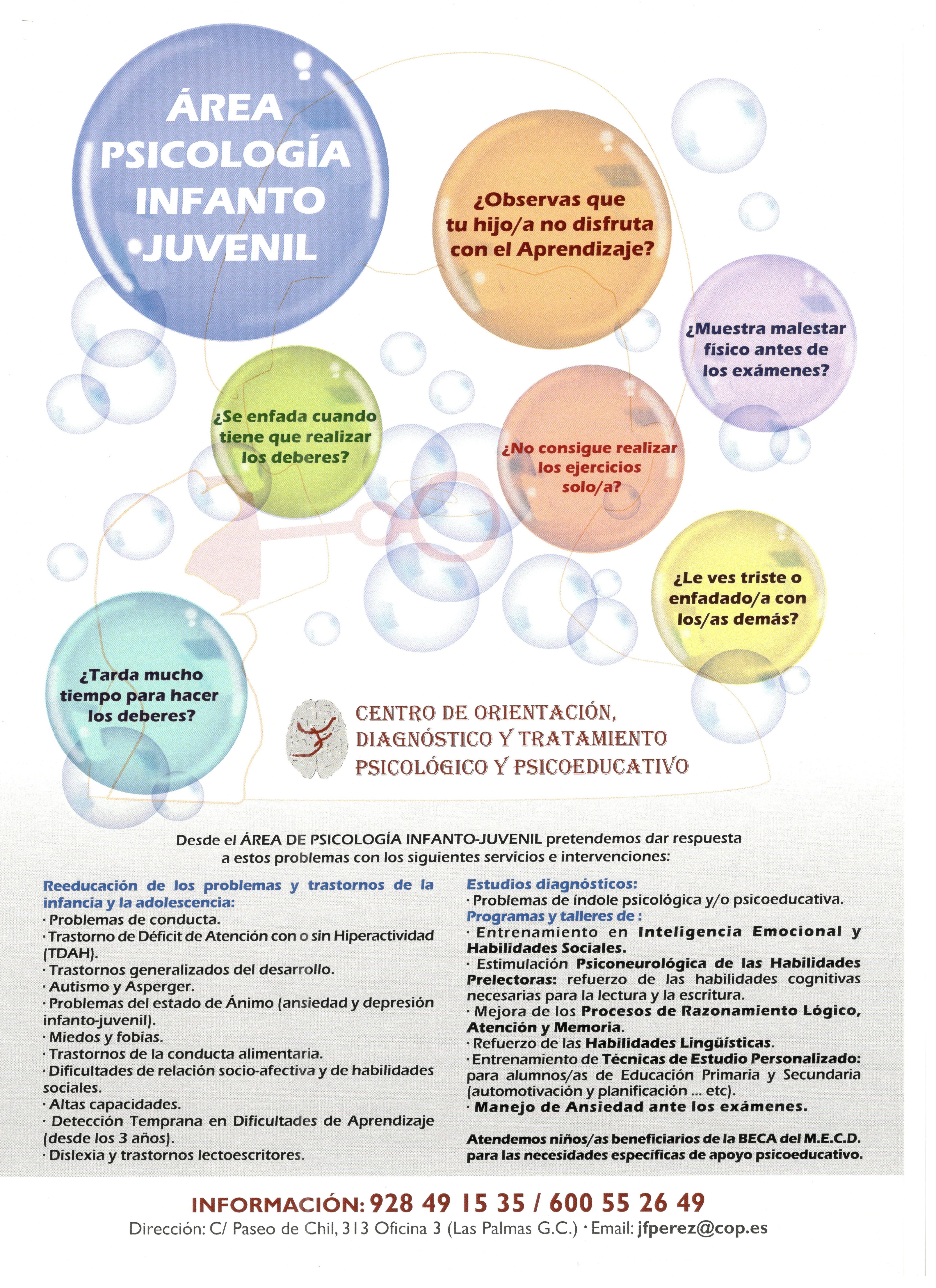 ÁREA DE PSICOLOGÍA INFANTO-JUVENIL
