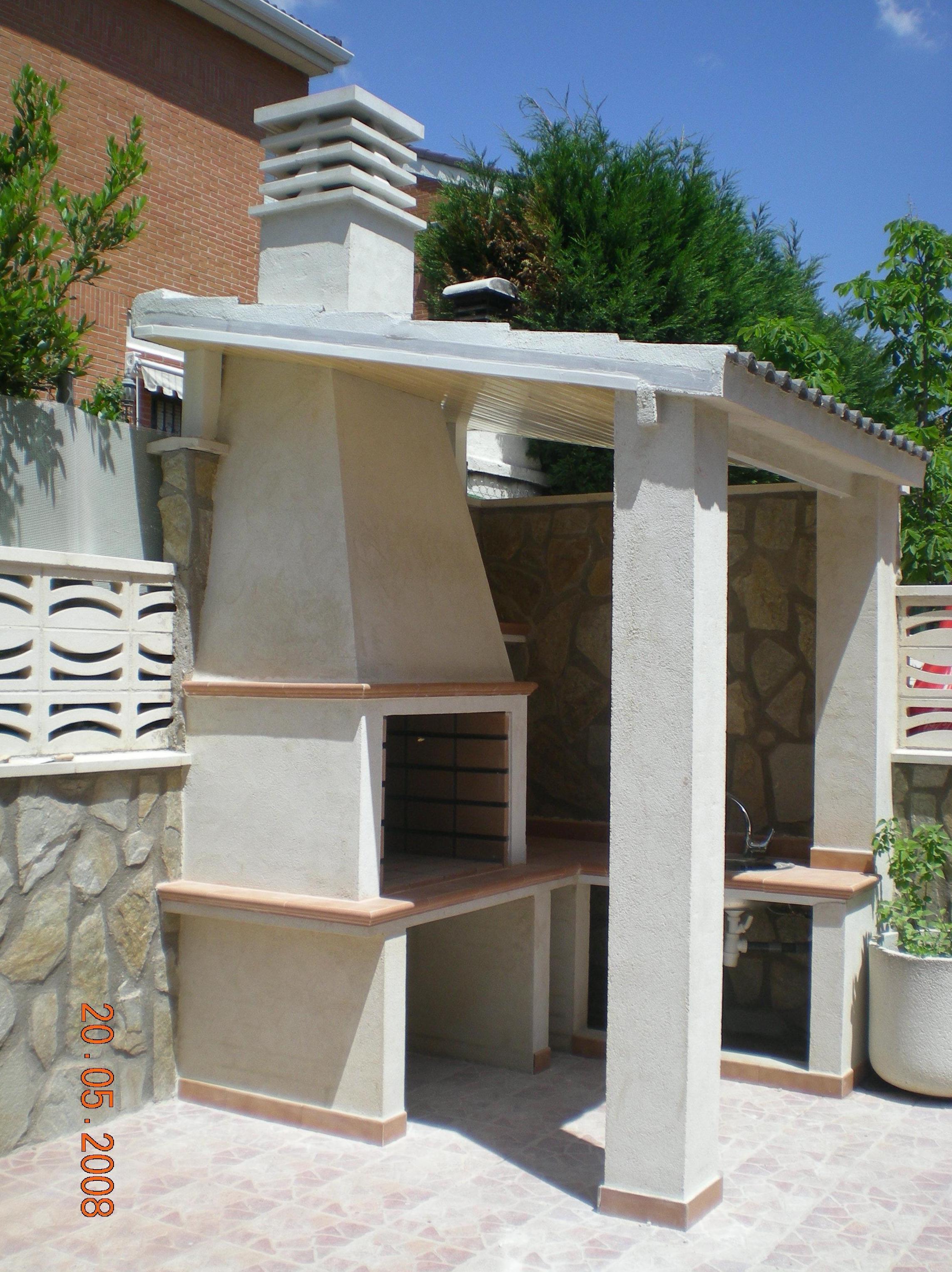 Barbacoas techadas trendy beautiful cheap barbacoas y - Barbacoas exteriores de obra ...
