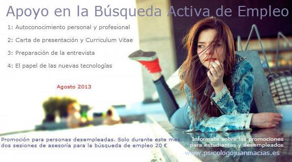 Campaña de Apoyo en la búsqueda activa de empleo