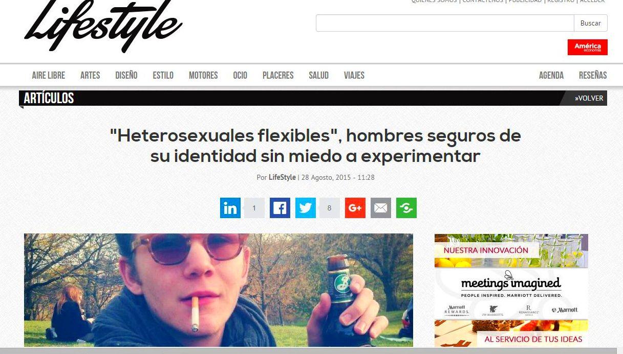Colaboración el Life Style, en un artículo sobre sexualiad