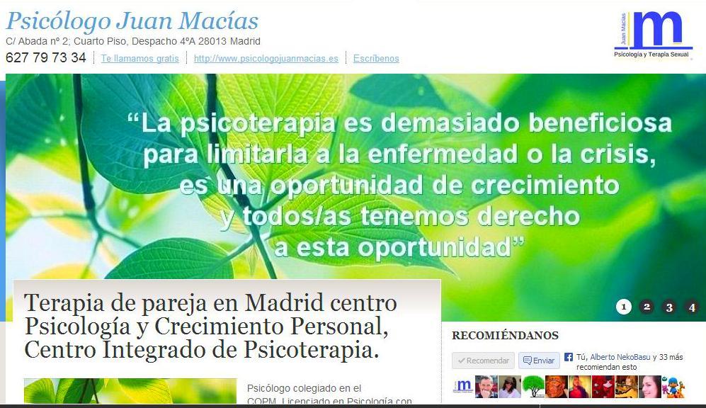 Foto 45 de Psicólogos en Madrid | Psicólogo Juan Macías