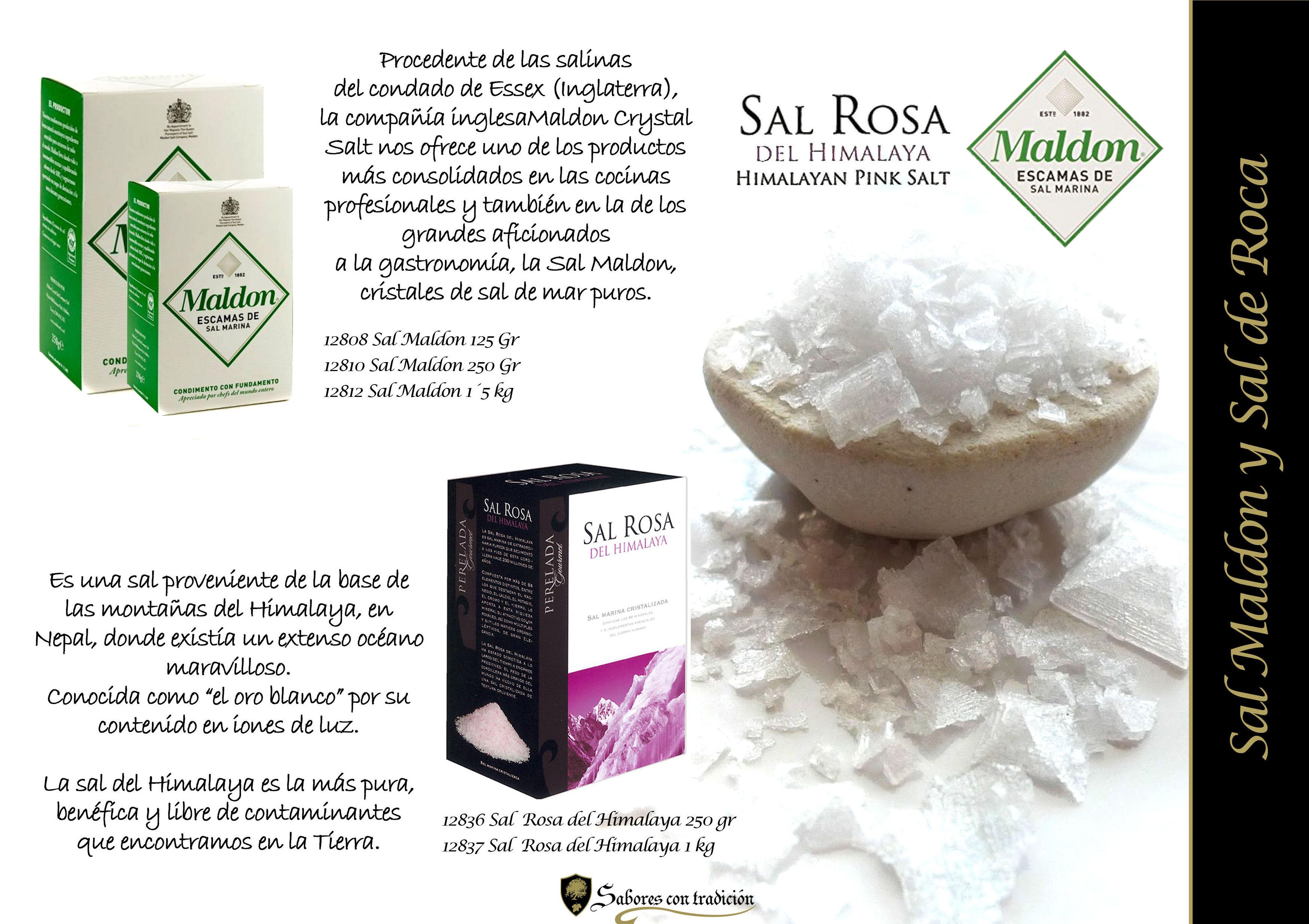 Sal Maldon y Sal de roca: Productos de Sabores con tradición