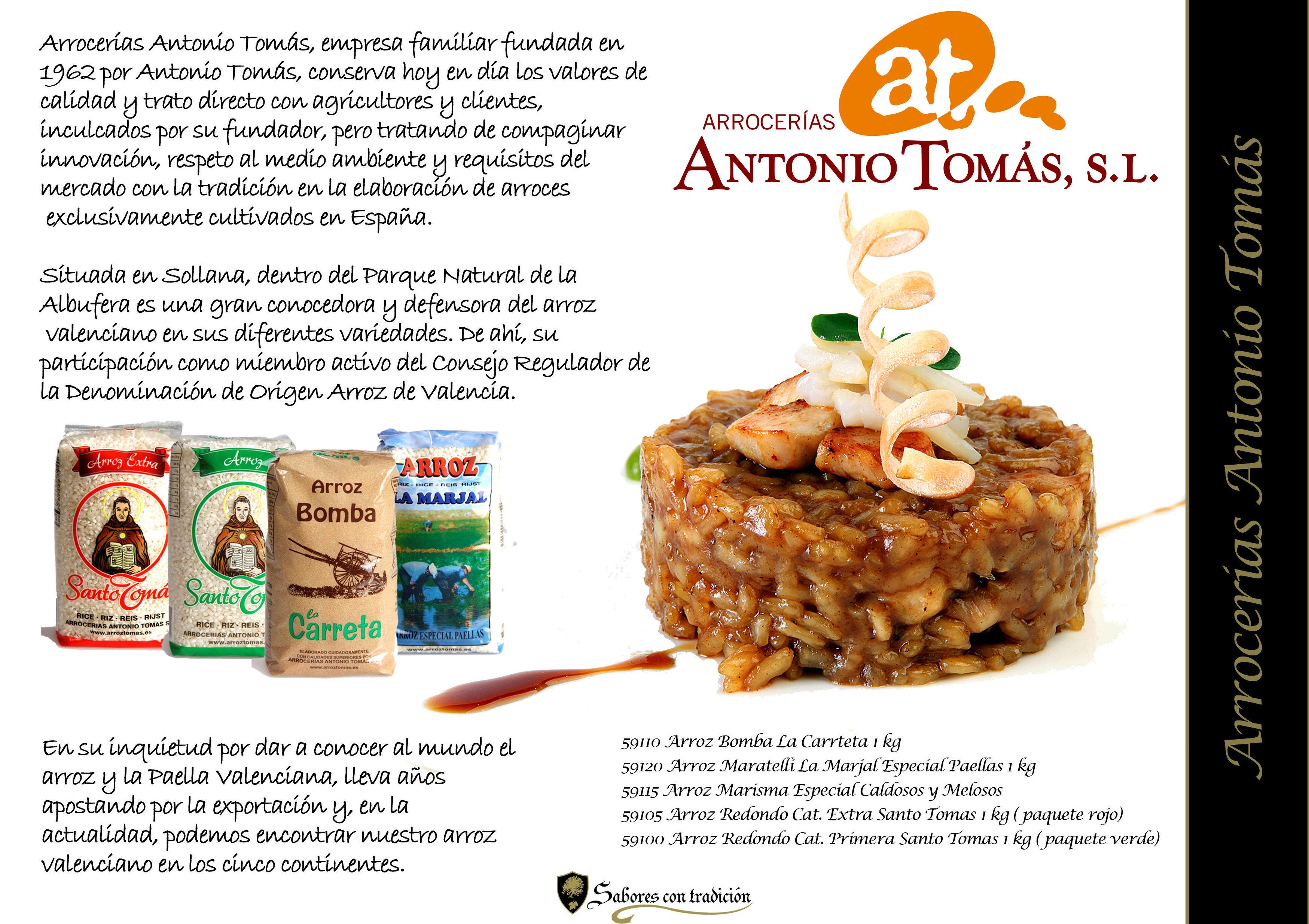 """Arrocerias """" Antonio Tomas """": Productos de Sabores con tradición"""