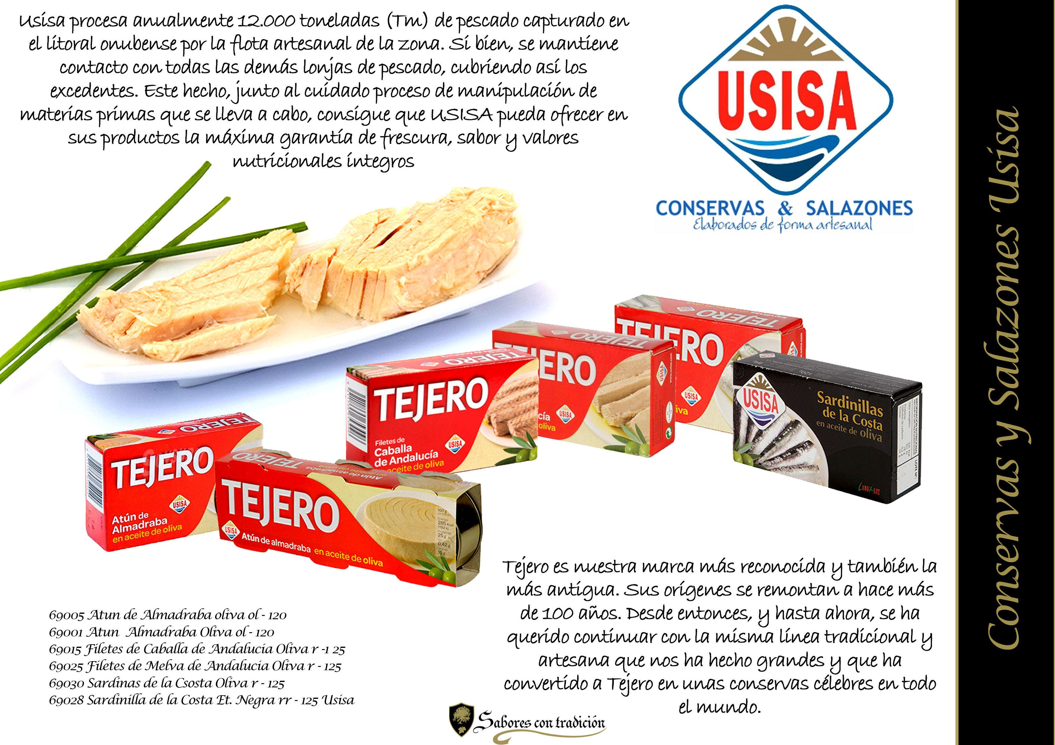 """Conservas """" Tejero """": Productos de Sabores con tradición"""