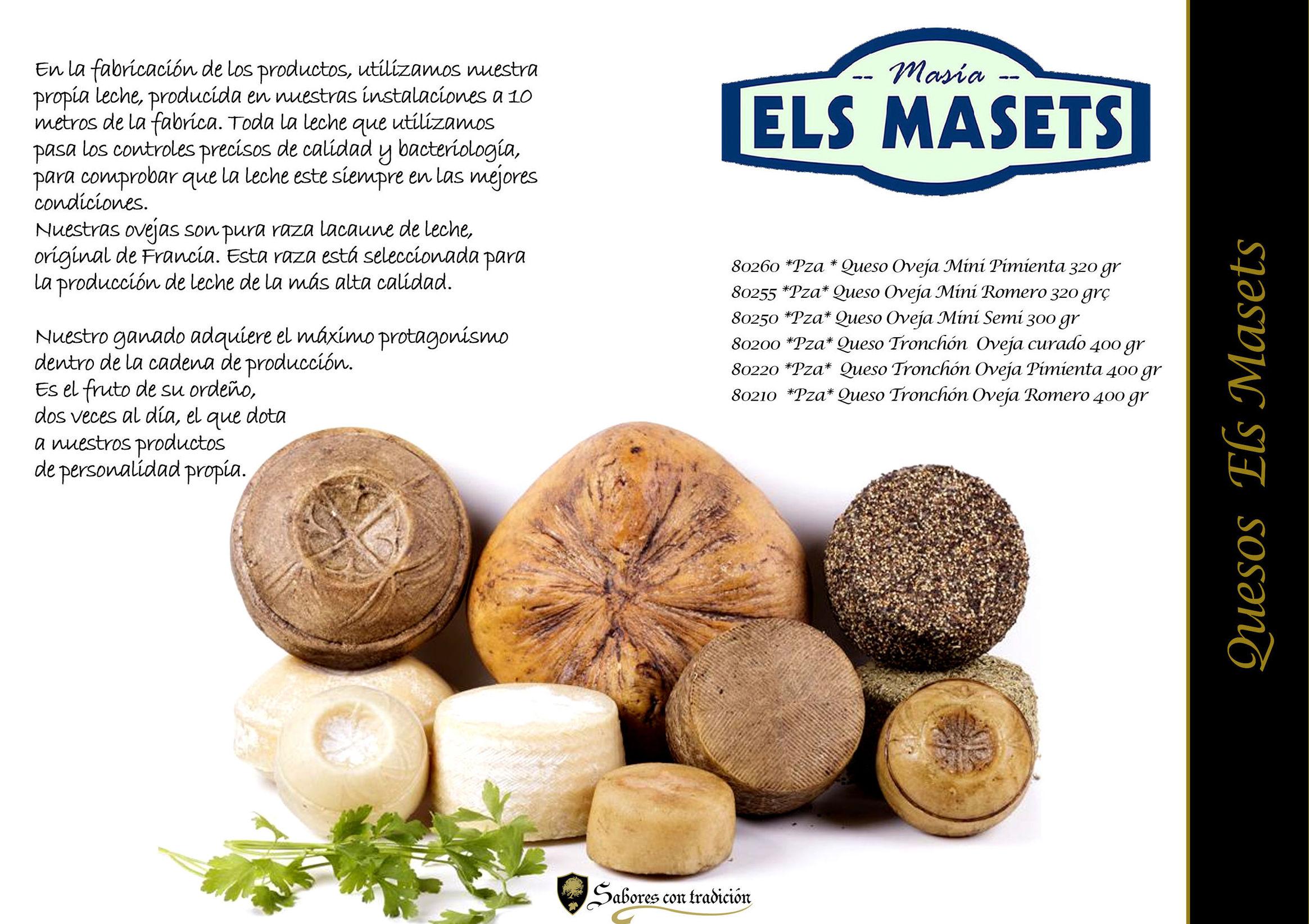 """Quesos """" Els Masets """": Productos de Sabores con tradición"""