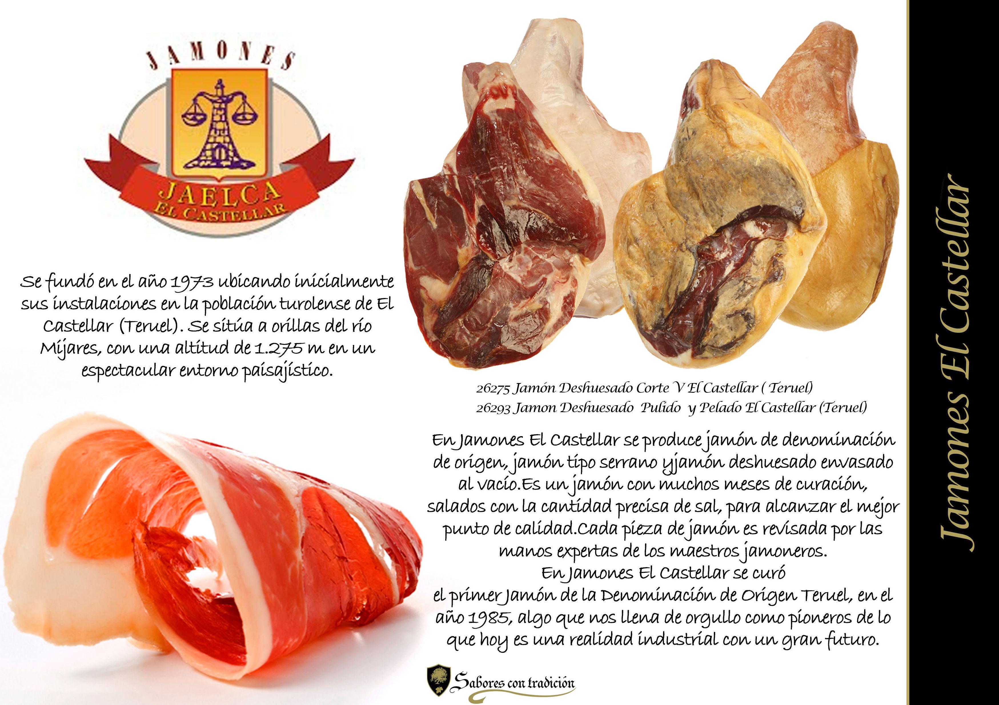 """Jamones """" El Castellar """": Productos de Sabores con tradición"""