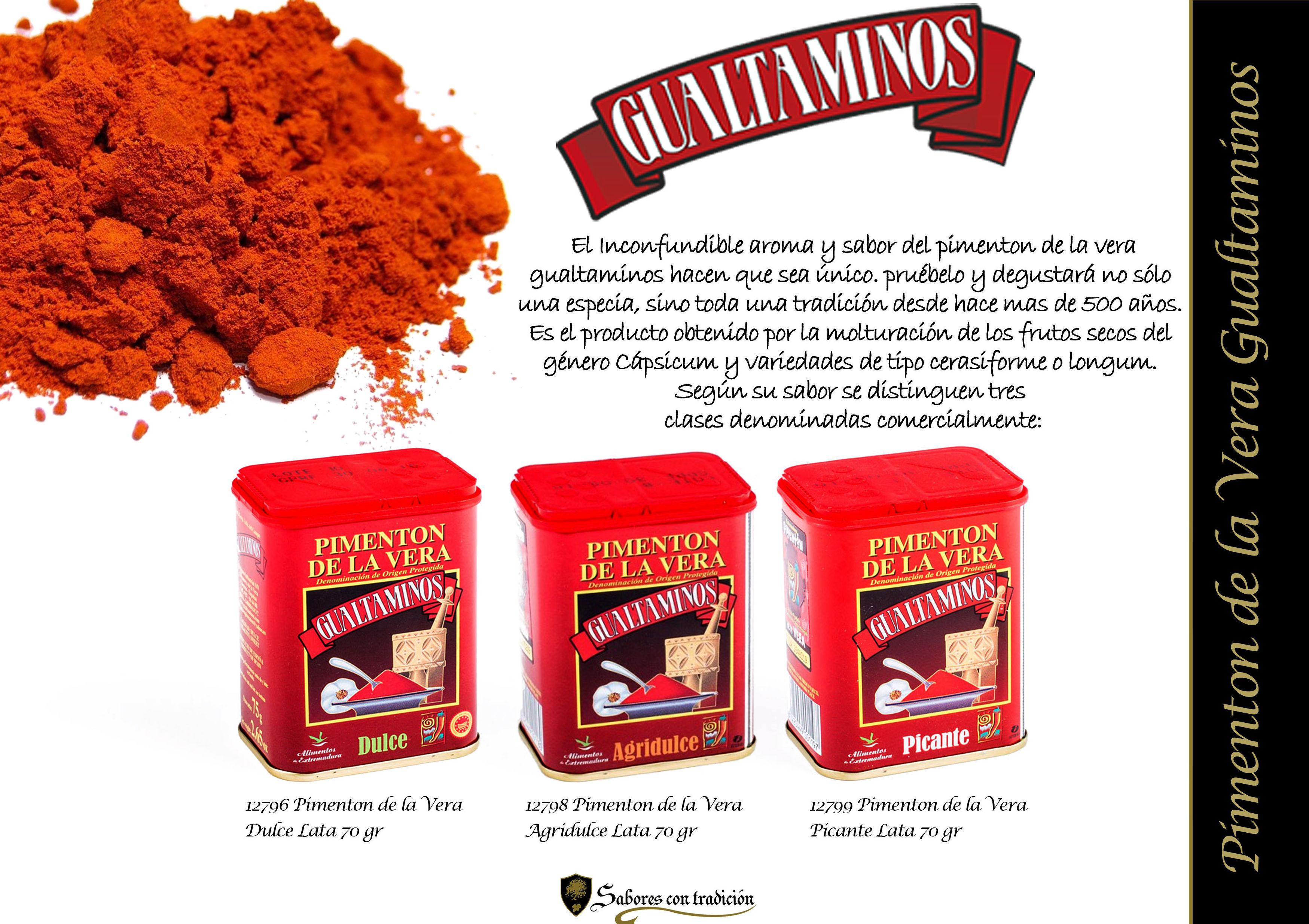 """Pimentos de la Vera """" Gualtaminos """": Productos de Sabores con tradición"""