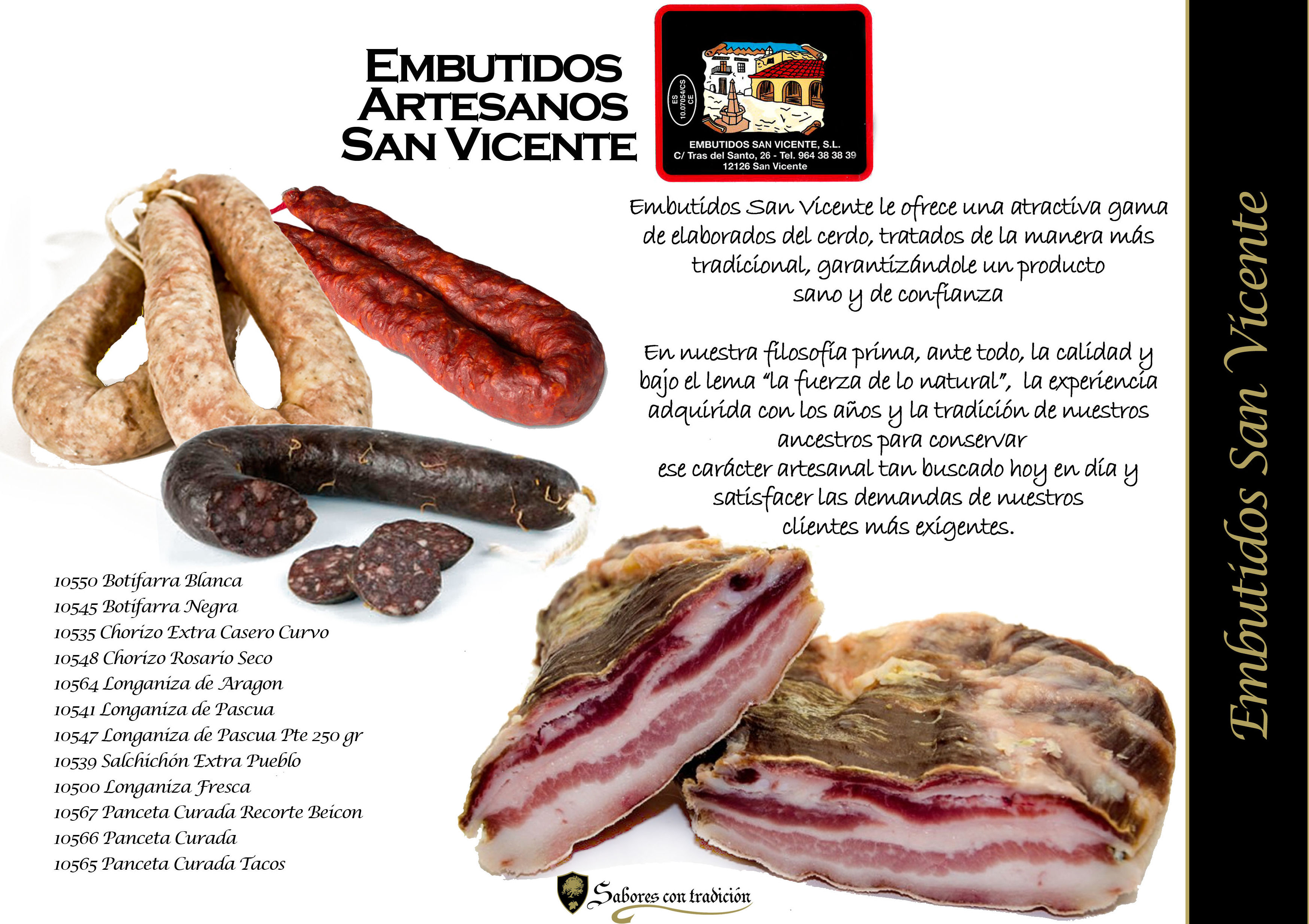 """Embutidos """" San Vicente """": Productos de Sabores con tradición"""