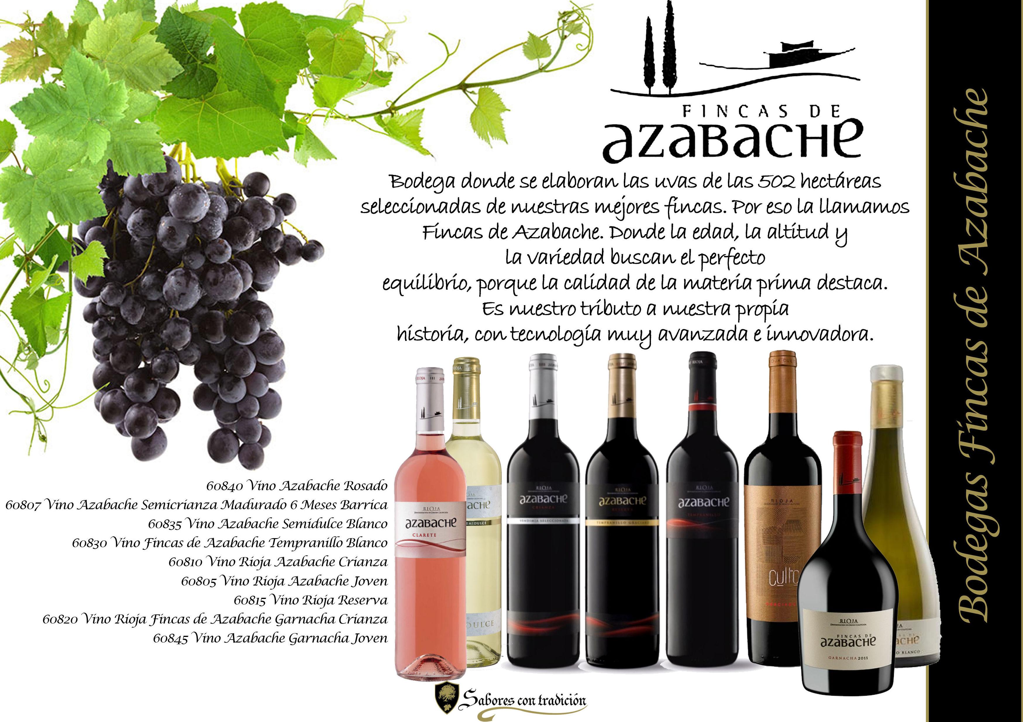 """Vinos """" Bodegas Fincas de Azabache """": Productos de Sabores con tradición"""