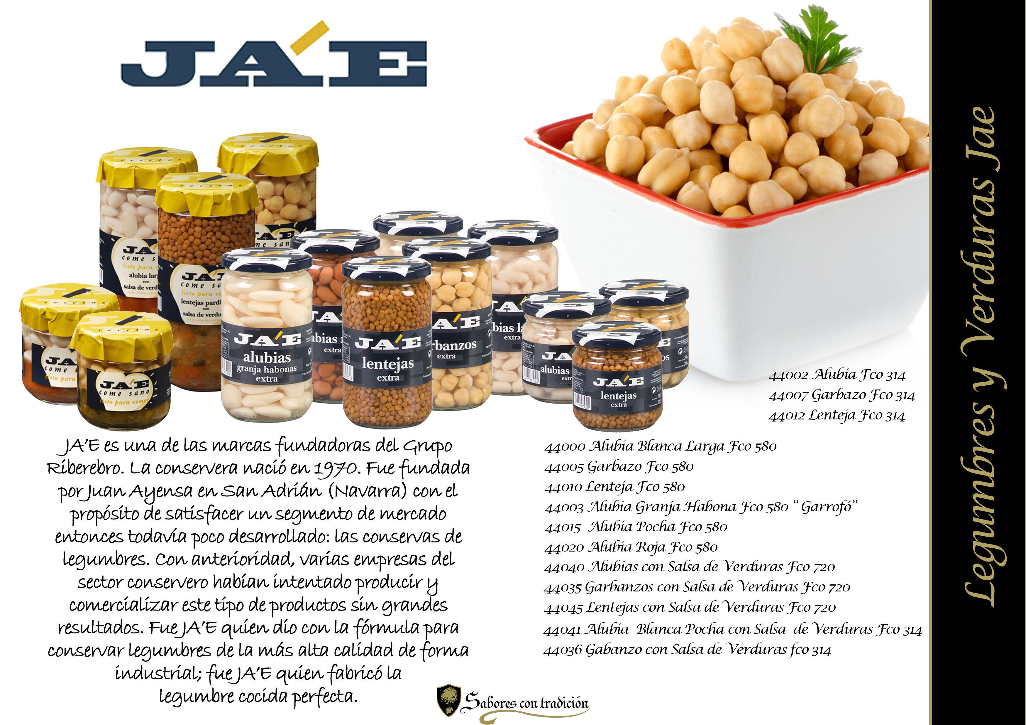 """Legumbres """" Jae """": Productos de Sabores con tradición"""
