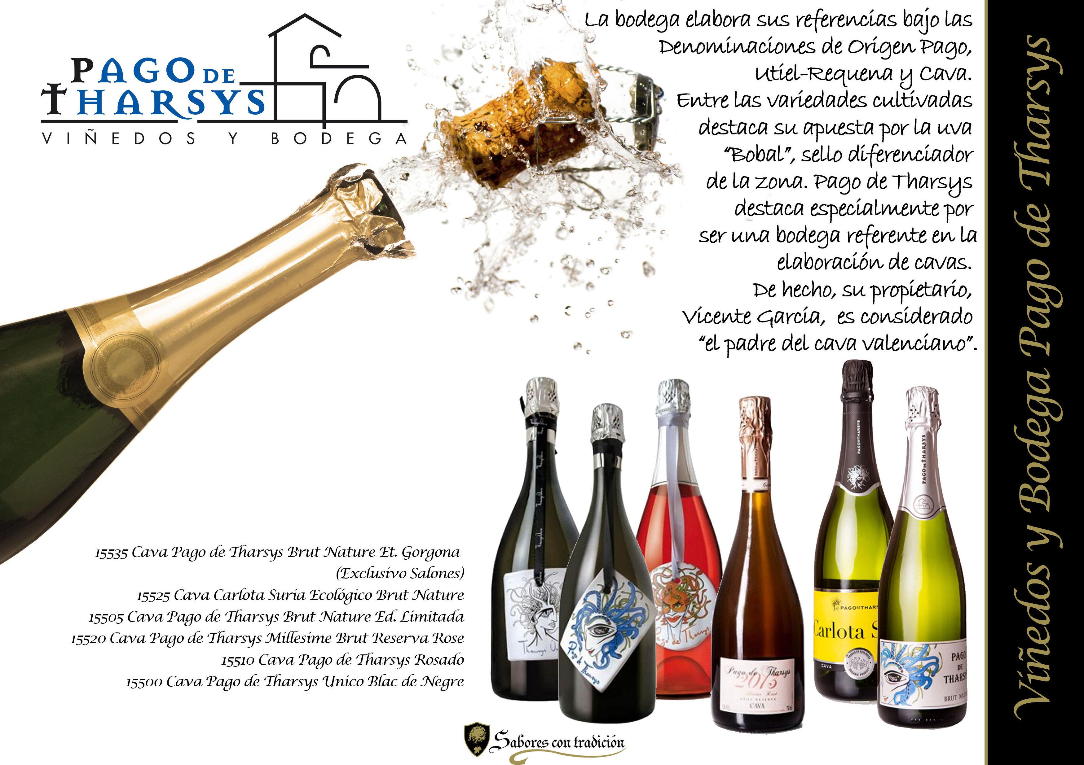 """Cava """" Viñedos y Bodega Pago de Tharsys """": Productos of Sabores con tradición"""