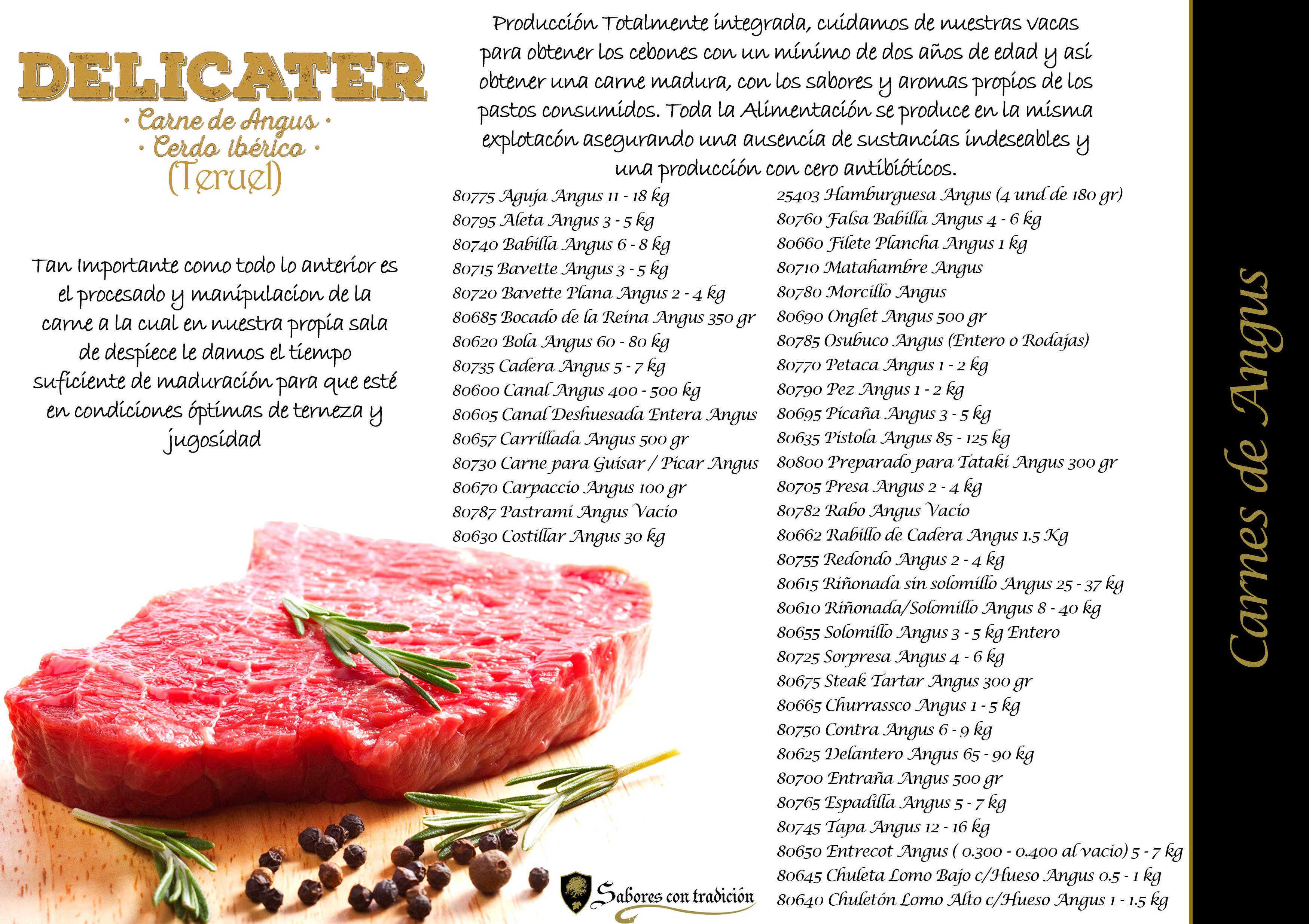 Carne de Angus: Productos de Sabores con tradición