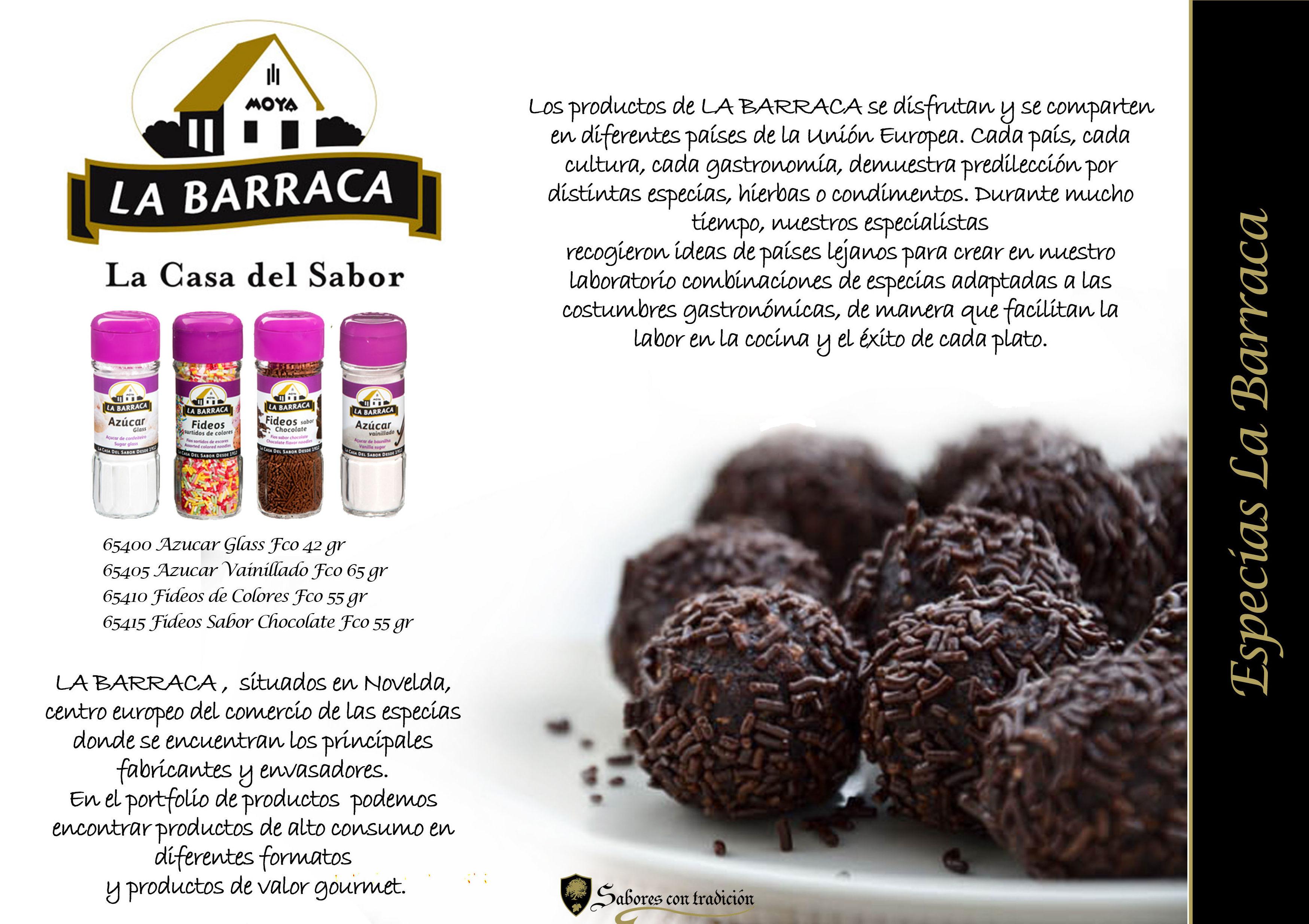 """Especias Reposteria """" La Barraca """": Productos de Sabores con tradición"""