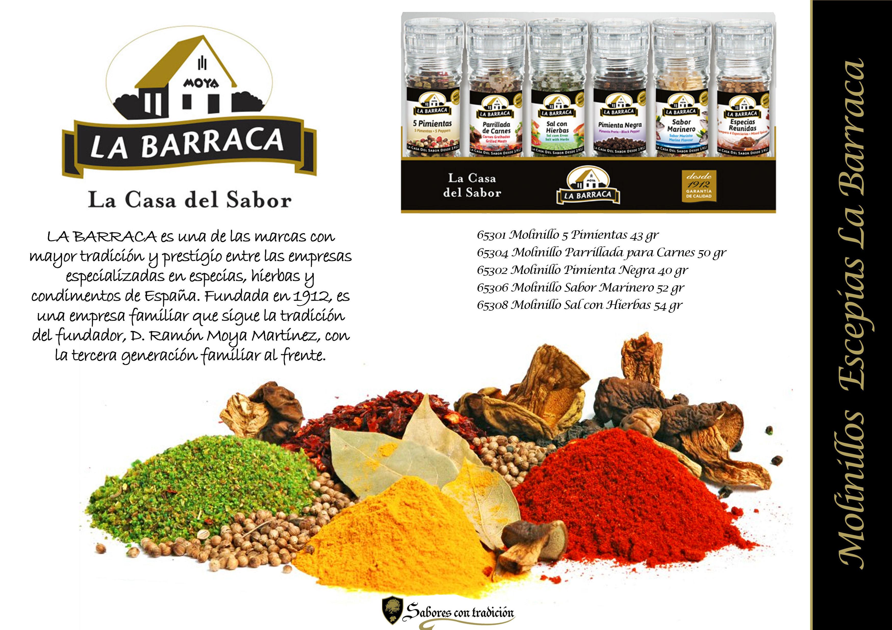 """Molinillos Especias """" La Barraca """": Productos de Sabores con tradición"""