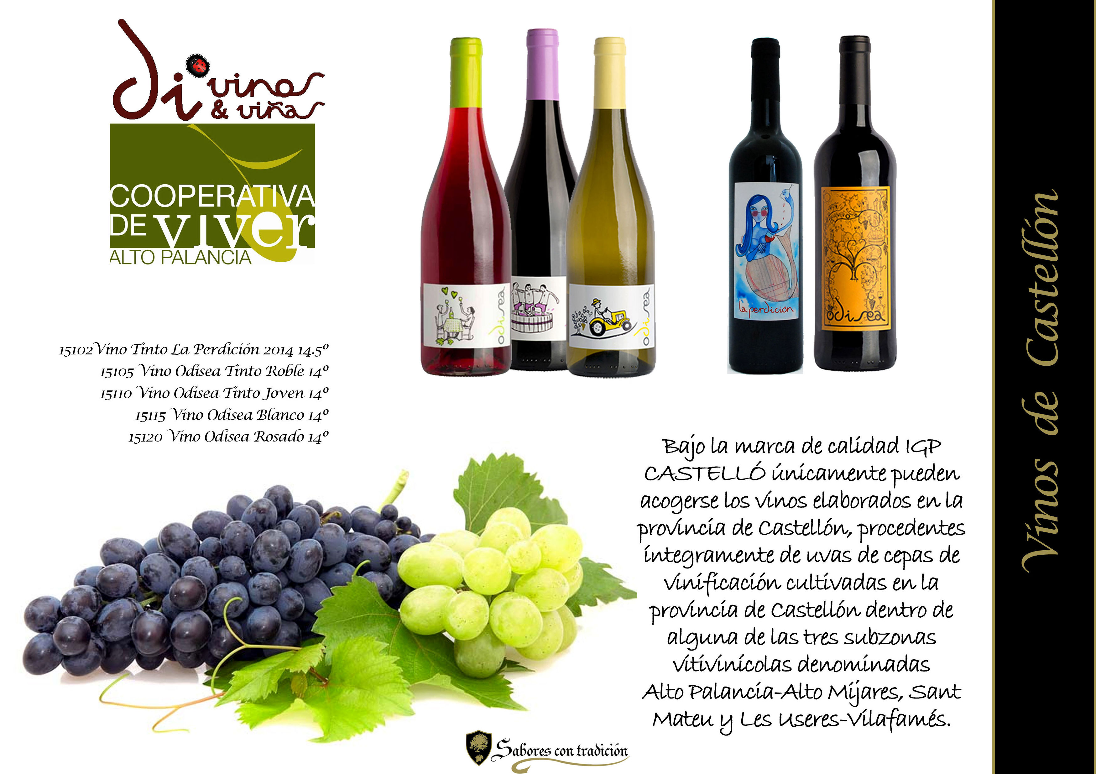 "Vinos "" Coop.Viver Castellón "": Productos de Sabores con tradición"