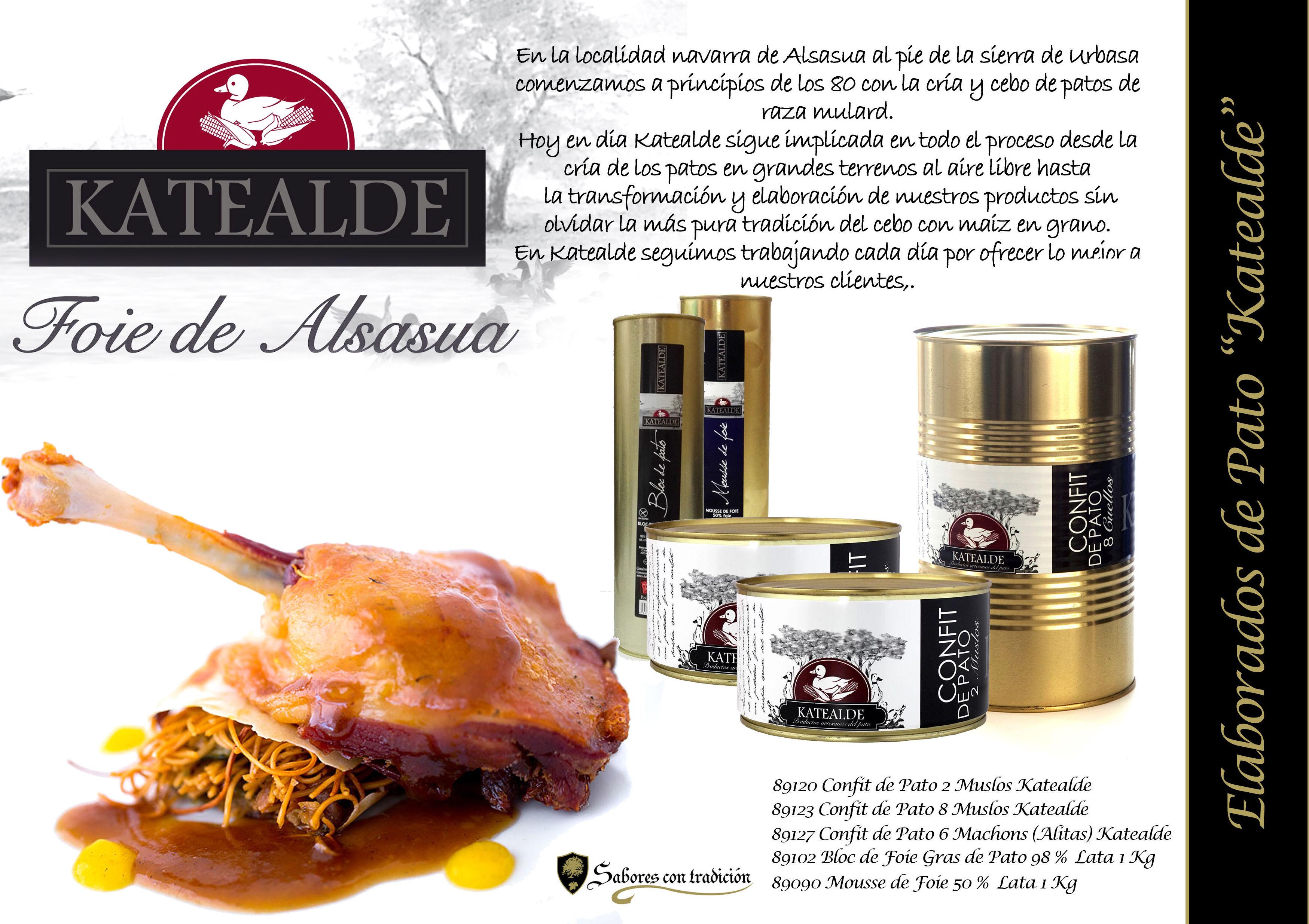 """Elaborados de Pato """" Katealde """": Productos de Sabores con tradición"""