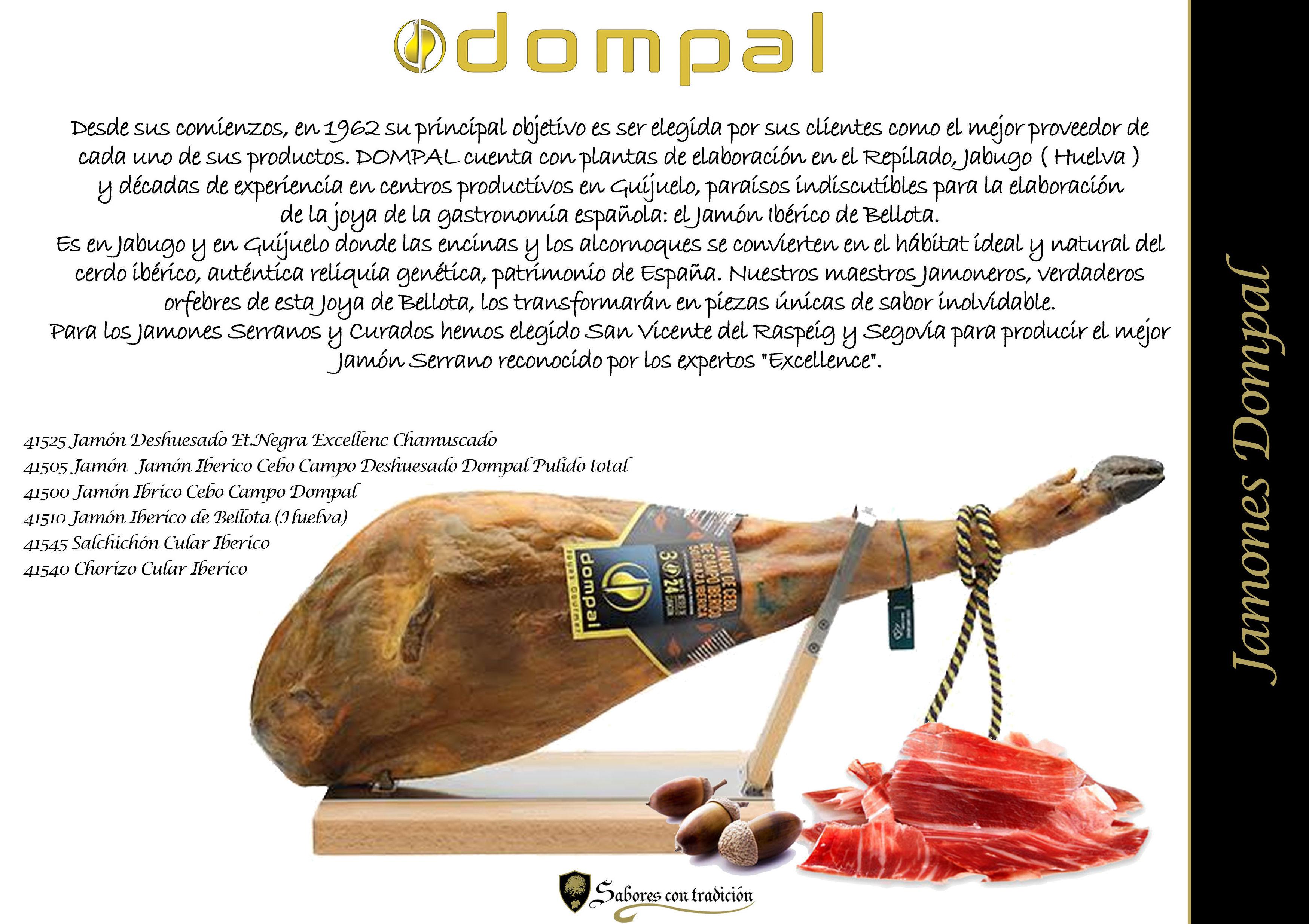 """Jamones """" Dompal """": Productos de Sabores con tradición"""